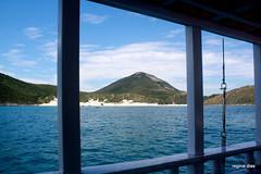 A schooner with a view (Rê Dias) Tags: ocean blue brazil window water brasil riodejaneiro island schooner montain escuna arraialdocabo ilhadofarol ilhadecabofrio cabofrioisland