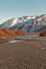 040413 - side channel of the Knik (Nathan A) Tags: morning mountains alaska river landscape outdoors spring glenn palmer glacier valley peaks range knik chugach floodplain oldglenn