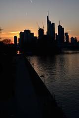 Frankfurt sunset (Olli Ronimus) Tags: sunset silhouette skyline river frankfurt main frankfurtsachsenhausen