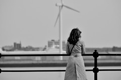 Alone (alun.disley@ntlworld.com) Tags: people mono wind mersey wirral turbines meseyside