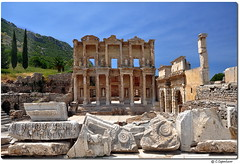 Celsus Library (our cultural archive) Tags: architecture turkey greek roman columns selcuk ephesus reliefs celsuslibrary ancienttown