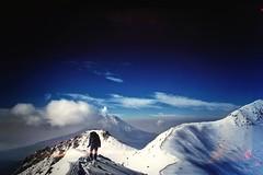 True to the ridge (Moy Triana) Tags: life blue sunset sky nature clouds sunrise landscape mexico volcano climb amazing sony hike alpine cloudporn popocatepetl triana hicking a77 moy alpinism iztaccihuatl skyporn sonyalpha utdoors moytriana sala77