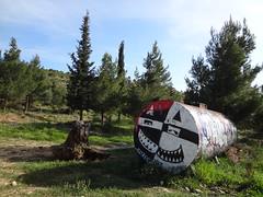 Graffiti (Pitheas) Tags: mountain graffiti athina ymittos
