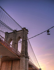 BROOKLYN! (Matthew Pugliese) Tags: nyc newyorkcity sunset brooklyn dumbo brooklynbridge hdr highdynamicrange shoesonawire brooklynbridgepark colorfulsky nycsunset brooklynsunset canon1635 canon5dmarkiii