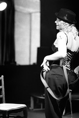 Miss Bliss - Burlesque (mattbellphoto) Tags: blackandwhite bw film 35mm durham kodak tmax nikonf2 burlesque franksinatra olblueeyes xtol thecasbah 85mmf14 p3200tmz boomorbust