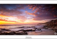 Explosion (John_Armytage) Tags: sunset seascape reflection clouds rocks dusk australia perth wa canon5d westernaustralia burnsbeach leefilters tectures canon2470lf28 johnarmytage wwwjohnarmytagephotographycom