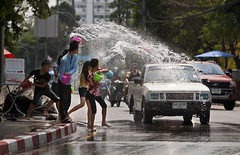 Happy New Year (paza140) Tags: road water festival kids thailand play traffic joy pickup newyear celebration national childrens geographic throw paza140