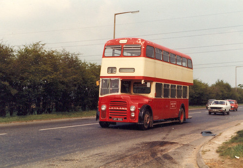 School bus on the A13.