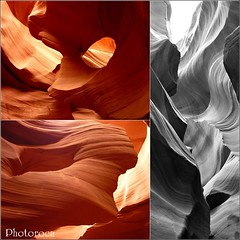 Lines and Colors of the Canyon. (Photoroca) Tags: trip viaje usa water colors lines stone wall america pared rojo sand agua wind stones viento canyon colores arena antelope formas naranja marvelous roca paredes ocre paisage magico antelopecanyon caon formacion estados curvas maravilla unidos rojos ocres rectas arenisca ranura formaciones raeza