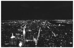 New York Spaces (Andrea Bertolani) Tags: street bridge blackandwhite bw usa white ny newyork black film brooklyn night america buildings landscape coneyisland downtown centralpark manhattan grandcentralstation empirestatebuilding notte paesaggio biancoenero nycity pellicola rockfellerplaza baincoenero