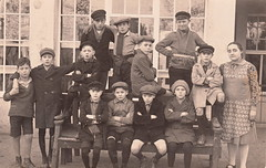 Emil and the Detectives? The Paul Street Boys? Or 12 Ciskes? ☺ (undated) (pellethepoet) Tags: school boys students kids children postcard kinder photograph schoolchildren groupportrait jungs pupils schoolboys rppc knaben realphotopostcard