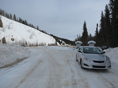 The Jimbobmobile at a rest stop (jimbob_malone) Tags: yukon 2013 northklondikehighway