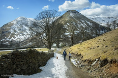 Spring Walk (gms) Tags: snow wall path lakedistrict cumbria drystone patterdale hartsop brotherswater sykeside