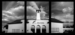 Lido - Peterborough (Andrew Bartram (WarboysSnapper)) Tags: penee olympus 35mm kentmere400 id1111 film analogue lido peterborough triptych sky clouds monochrome believeinfilm