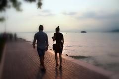 Amare non  guardarci l'un l'altro, ma guardare insieme nella stessa direzione... (Annamaria Rizzi) Tags: coppia persone lago bardolino lagodigarda