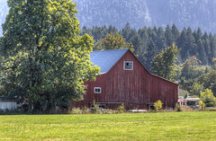 Barn - Cowichan Valley, Vancouver Island, British Columbia, Canada (Toad Hollow Photography) Tags: hdr farm barn bucolic rural rurex weathered red wood old heritage cowichan cowichanvalley vancouverisland britishcolumbia bc canada