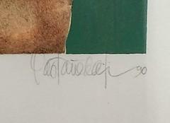 Alfredo Castañeda Serigraph A Flor de Piel 1990 (artnoy) Tags: artnoygalnum9441 alfredocastañeda prints serigraph flor piel 1990