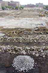 Demolition, reversed angle / Pass dcompos, angle invers (Jacques Lebleu) Tags: dmolition demolition destruction blindness aveuglment patrimoine heritage loss perte montreal montral ahuntsiccartierville rue meilleur montrealworks nationaldefence warefforts effortsdeguerre urbanisme urbanism ville city town emptylot