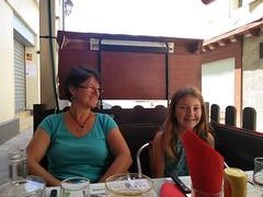 Restau à La Châtre avec Alice et Alizé