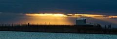Burbo Lights (frisiabonn) Tags: marine merseyside mersey river wirral liverpool water sunset sun light dark cloud uk great britain england united kingdom offshore windfarm burbo bank seaside outdoor maritime