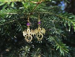 DSC_0186-1 (Chaumurky) Tags: jewelry jewellery bijoux fantasyjewelry dragon earrings dragonearrings dragonjewelry
