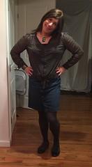 Last night (JenniferB!) Tags: crossdress crossdresser crossdressed crossdressing stockings skirt transgender transvestite tgurl tgirl tg tights trans gurl gurly gurlish girlygurl girly womanly flats makeup pantyhose ladylike enfemme lipstick ootd u