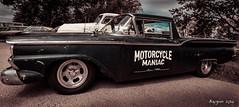 '70 maniac on board. (ericbaygon) Tags: american amricaine motorcycle maniac 1970 ranchero ford vintage oldschool pickup car meeting d300s nikon nikonpassion bratzmonkeys panoramic