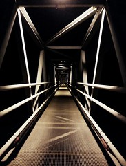 Go (Eleni Maitou) Tags: lavrio path passage go sepia monochrome lines light port