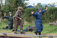 DSC_7362.jpg (john_spreadbury) Tags: ww2 mortar gi homeguard german blacknwhite johnspreadbury reenactment group rifle machinegun stengun cricklade swindon railway troops army english americans uniforms smoke wartime soldiers british