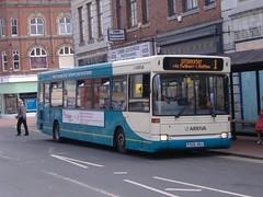 Arriva 2325 Burton (Guy Arab UF) Tags: arriva midlands 2325 p325hoj dennis dart slf plaxton pointer bus burton trent high street staffordshire buses