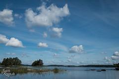 Day at Lake Aasnen (judithrouge) Tags: schweden sweden lake see wolken clouds summer sommer blauerhimmel blue sky blau water wasser urlaub vacation travel reise happy glcklich landscape nature natur lanschaft