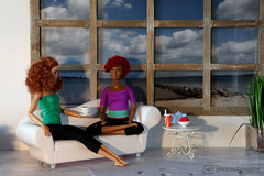 relaxing after yoga (photos4dreams) Tags: saturdayfuninthedollhousep4d dress barbie mattel doll toy photos4dreams p4d photos4dreamz barbies girl play fashion fashionistas outfit kleider mode puppenstube tabletopphotography loreley aa