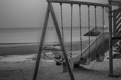 Fun Summer (Emi.R.) Tags: summer beach uae swings travel slide gulf playground sky sea ajman ocean landscape shore