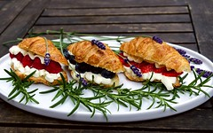 DSC_1984-Edit-lab_r (Curly Courland) Tags: food foodphoto foodphotography foodphotografy croissant baked berry strawberry blueberry raspberry herb lavender rosemary creme fraiche