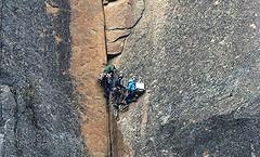Bien accrochs, Well Hung (francepar95) Tags: escaladecaptrinit montagne cap escalader force verticale rochers courage saguenay qubec climbing rocks