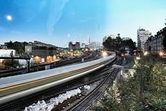 Battersea Power station (euskadi78) Tags: train londra london uk inghilterra granbretagna lungaesposione treno canon battersea