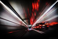 Warp Drive (iShootPics) Tags: pinhole streaks cars tunnel trails lines