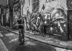 Nomad Clan Reworked.jpg (Kinesthesis) Tags: paint electricunicycle houses road london camden street streetart male buildings graffiti figures art uk hawleymews
