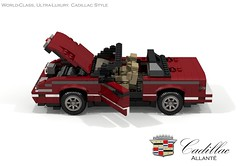 Cadillac Allanté Indianapolis Pace Car (1993) (lego911) Tags: cadillac allante convertible roadster pace car 1993 1990s caddy v8 under indy indianapolis auto moc model miniland lego lego911 ldd render cad povray lugnuts cahllenge 106 exclusiveedition exclusive special limited edition usa america