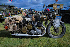 Seething Air Day 2016 (Pete19s) Tags: seethingcharityairday seethingairfield seething2016 militaryvehicle ww2 bsa bsam20 motorcycle vintagebike nmvg norfolkmilitaryvehiclegroup