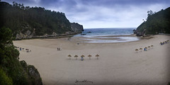 La Franca Pano.N118 (Yon Ibarrra) Tags: playa beach franca asturias agua water mar sea arena sand verde green azul blue cielo sky 2016 bahia bay landscape paisaje nature naturaleza belleza beautiful
