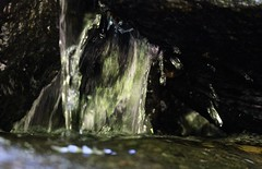 Wissahickon Valley Park, PA (elisecavicchi) Tags: waterfall cascade dark enclosed stone cave flow water river stream green vibrant strange wissahickon valley park philadelphia pa pennsylvania september motion obscure