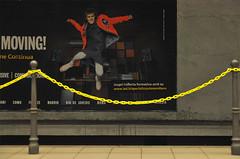Jumping advertising (Mario Mencacci) Tags: jump jumping advertising milano metro underground street streetphotography mencacci