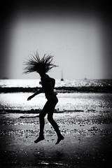 water spirits~ Krabi (~mimo~) Tags: asia bay beach holiday journey krabi railay thailand travel trip warm girl jump blackandwhite hair sea ocean swim leamourhege happiness joy