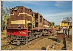 Jaipur fill-up (david.hayes77) Tags: alco ydm4 india jaipur rajasthan 2016 indianrailways ir 6651 diesel fuel mg metregauge driver nwr