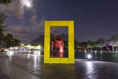 52 weeks - #38 Yellow (leo027) Tags: nikon d7100 sigma 1750 sigmalens long exposure cerro de la silla paseo santa lucia national geographic noche