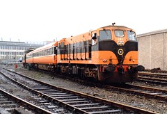 CIE 141 at Connolly depot (Barang Shkoot) Tags: locomotive train diesel loco gm cie