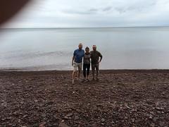 Bryan, me + Mark (thechelseagrin) Tags: upperpeninsula michigan sunsetbay keweenawpeninsula nature lakesuperior family