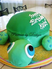 DSCN2839 (Pastries by Design) Tags: sea cake carved sand shaped turtle