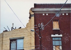 THE OLD KINGSTON YMCA IN OCT 1991 (richie 59) Tags: street city autumn urban usa streets building film america 35mm buildings outside us ruins unitedstates y ruin oldbuildings historic midtown sidewalk kingston 35mmfilm newyorkstate 1991 oldpictures ymca sidewalks oldpicture oldbuilding 1990s burned brickbuilding olddays nystate hudsonvalley citystreet kingstonny oct1991 historicbuildings ulstercounty photogragh smallcity oldbrickbuildings midhudsonvalley americancity oldbrickbuilding burnedoutbuilding ulstercountyny americanbuilding ymcabuilding picturescan americanbuildings richie59 oct91991 midtownkingstonny kingstonymca 35mmpictures midtownkingston old35mmpictures